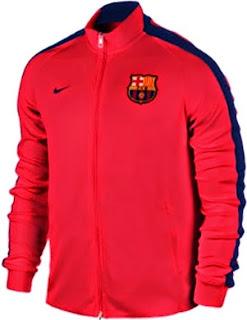 gambar jaket barcelona warna oranye away terbaru musim 2014/2015 kualitas grade ori