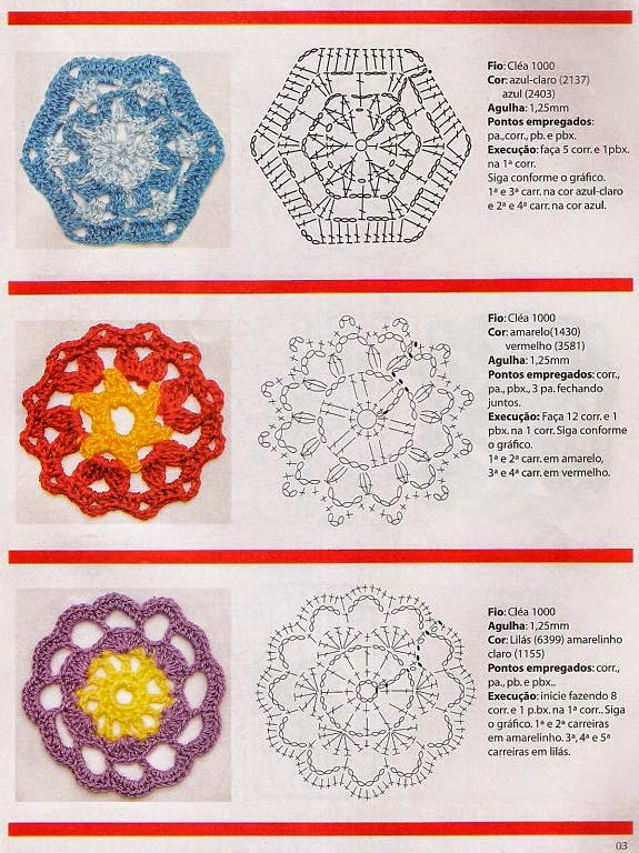 Grannys florales con patrones