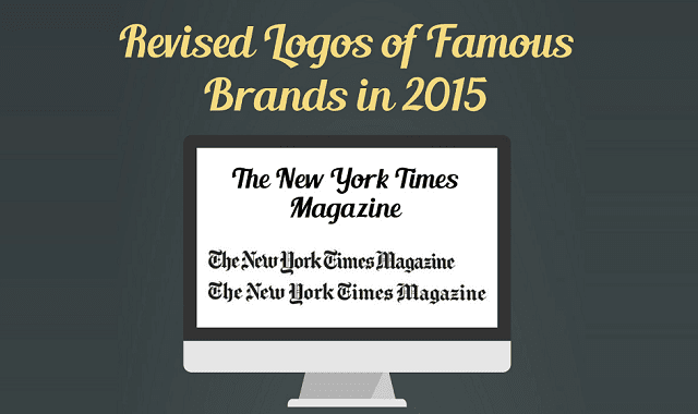 Revised logos of famous brands in 2015