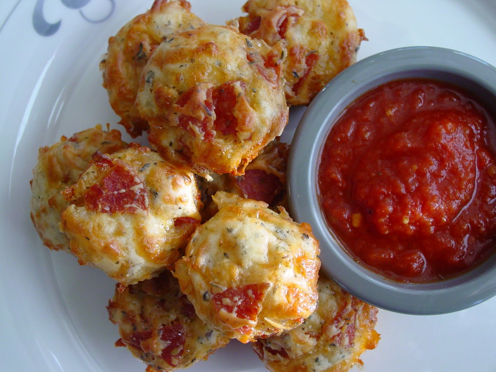 Pepperoni Pizza Puffs adapted from Everyday with Rachael Ray