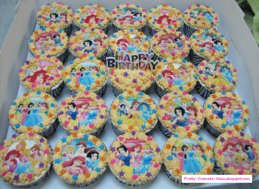 Pretty Cupcake Ideas Disney Princess Cupcakes Disney Princess Cupcakes
