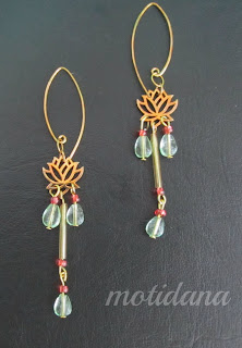 The Lotus Pond earrings