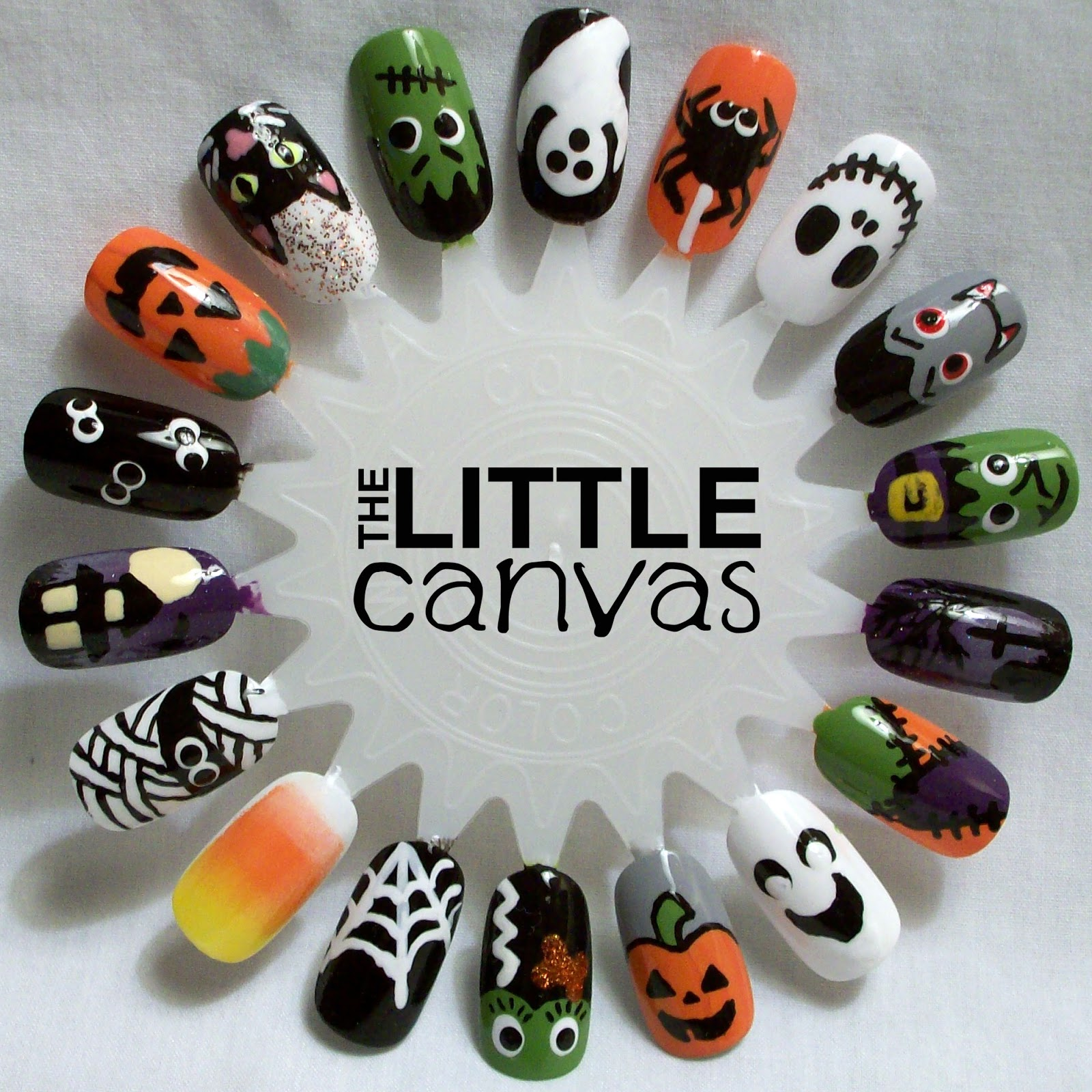 Halloween Nail Art Wheel - The Little Canvas