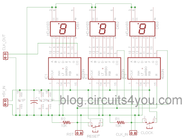 Object Counter Circuit Diagram