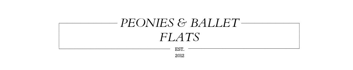Peonies + Ballet Flats