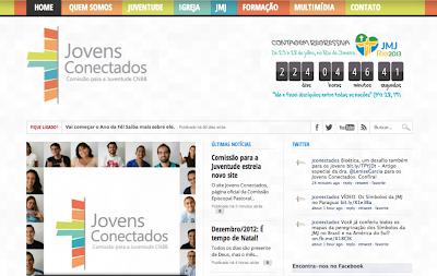 O novo visual do site Jovens Conectados foi lançado em 8 de dezembro de 2012