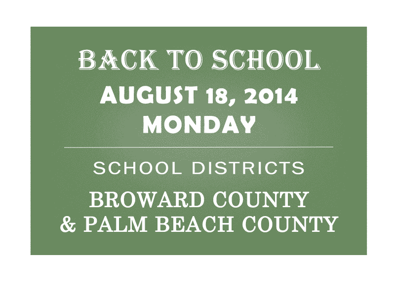 First Day of School for Broward and Palm Beach Students: School Year ...