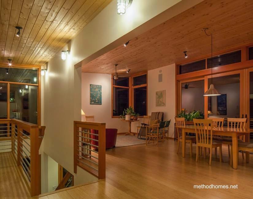 Arquitectura de casas una moderna caba a prefabricada Casas americanas interior