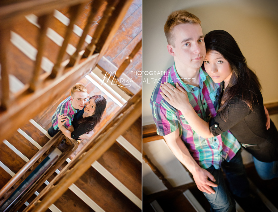 mees ja naine trepil