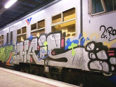 Trainspotting graffiti