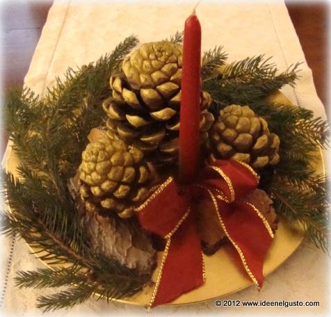 Le cose di mys maglia uncinetto telaio tutorial e - Centro tavola natalizio con pigne ...