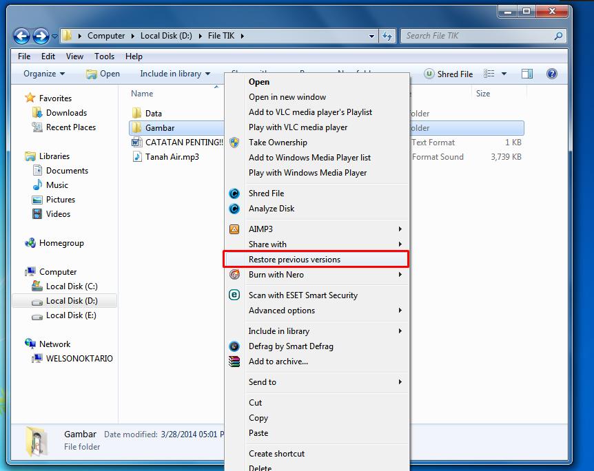 cara mengembalikan file terhapus permanen