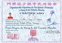 Graduación Con Shifu Shi Yan Bao- Argentina