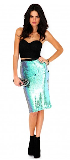 Leigh Anne Little Mix Sequin Skirt Missguided