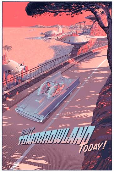 """Visit Tomorrowland Today"" Standard Edition Screen Print by Laurent Durieux"