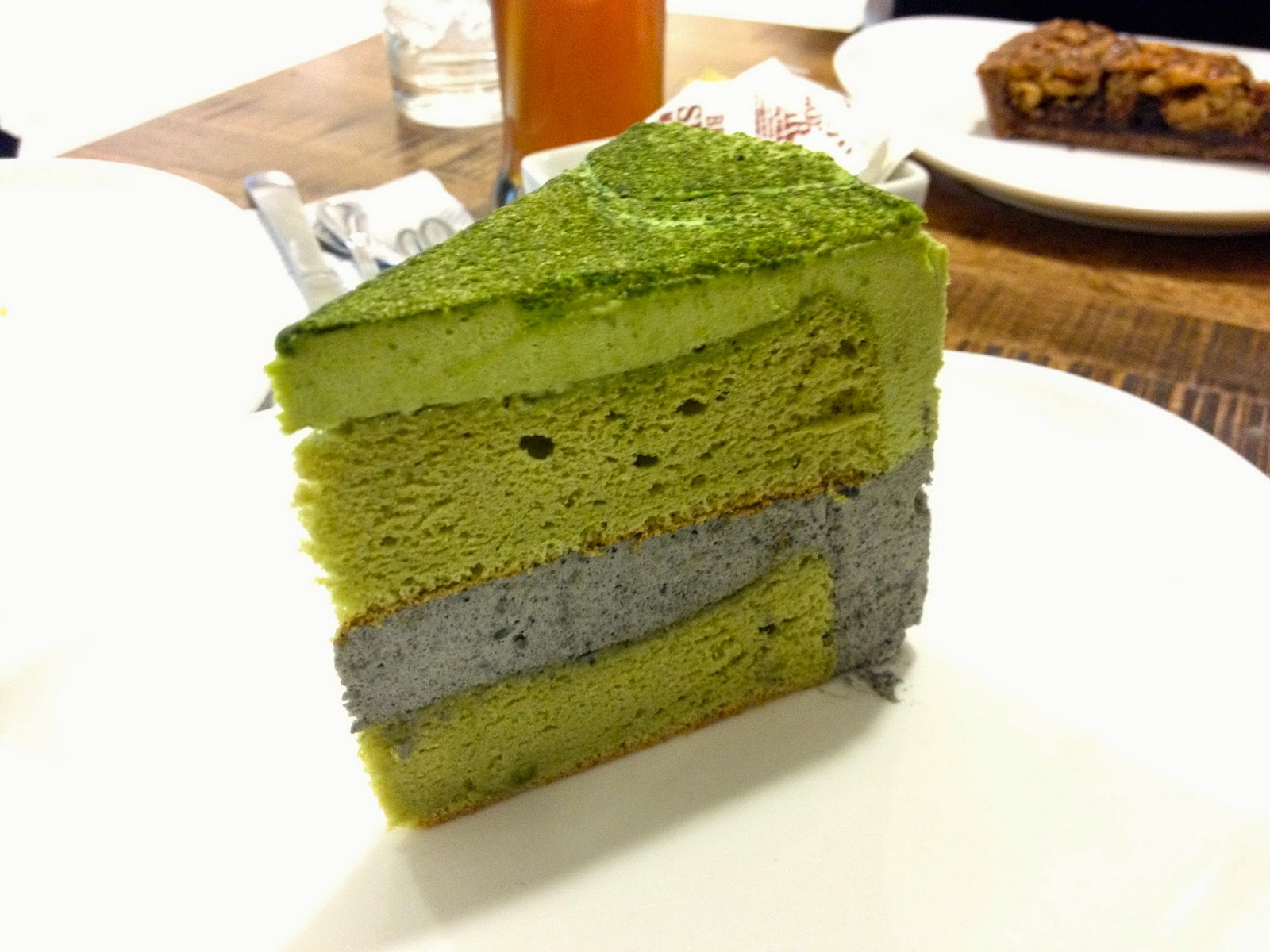 Treats Street Cafe's Tea-flavored cake