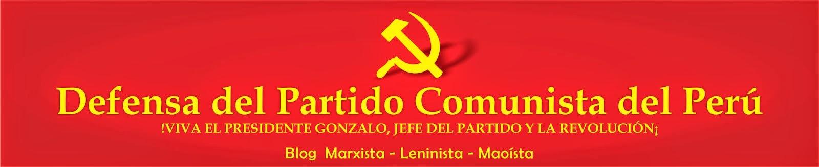 Defensa del Partido Comunista del Perú