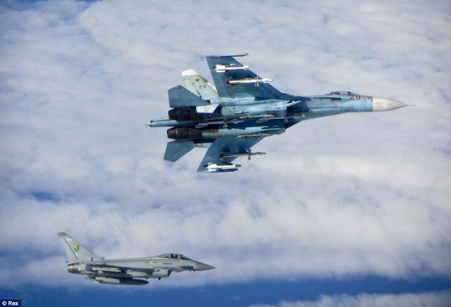 Su-27 Flanker and Eurofighter Typhoon