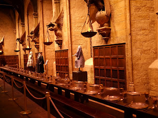 The Great Hall at WB Harry Potter Studio Tour in London