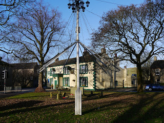 The maypole on the village green in Long Preston
