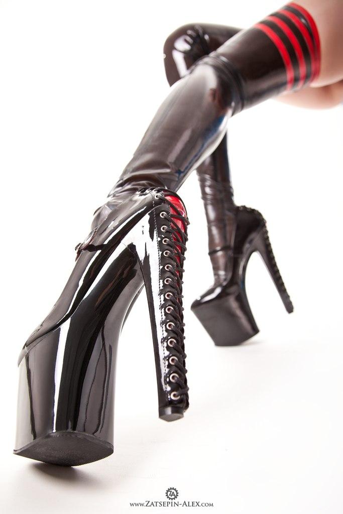 heels Latex high