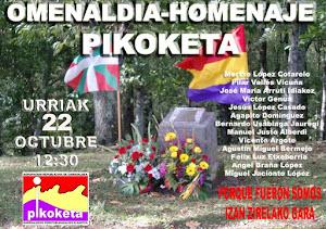 Domingo 22 Octubre: Homenaje fusiladxs en Pikoketa