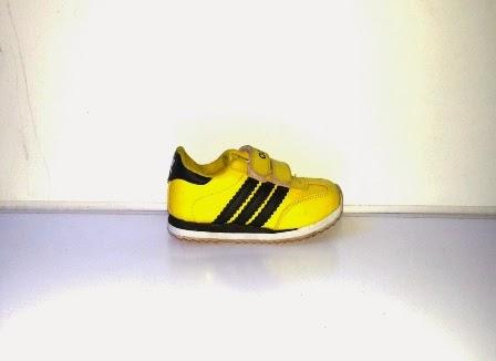 Sepatu Adidas Samba Anak kuning hitam,