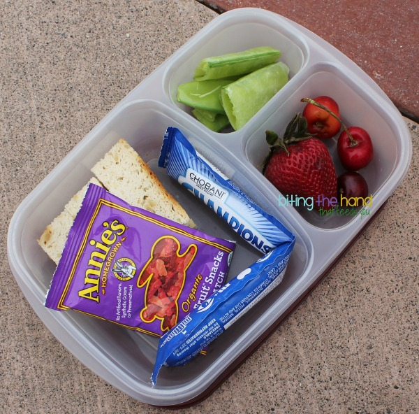 Simple picnic lunch for a toddler in @EasyLunchboxes
