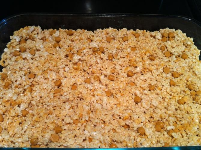 how to make butterscotch rice krispie treats