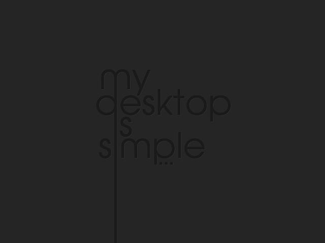my desktop is simple wallpaper hd