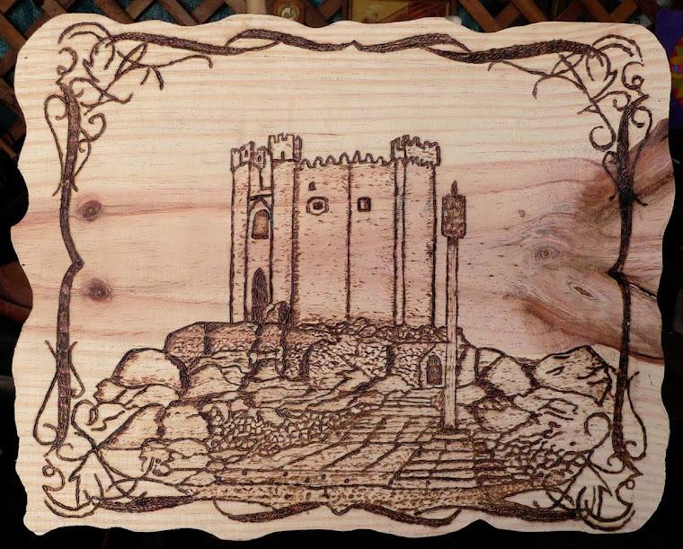 Pirografia em madeira maciça