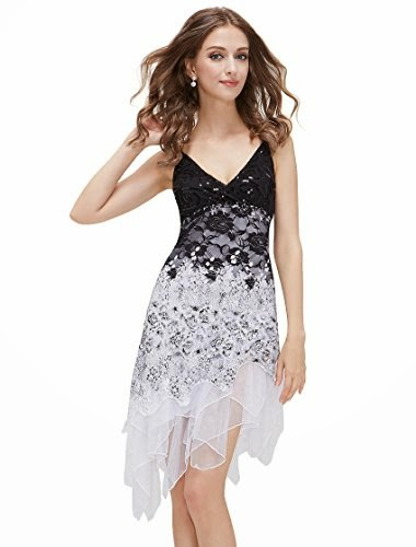 Sequined V-neck Chic Cocktail Party Club Dress