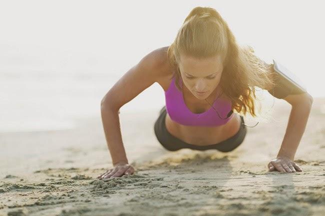 Women doing Push-ups Best workout move