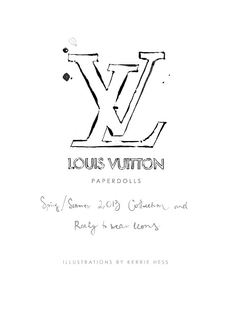 louis vuitton, paper dolls