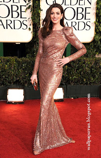 Anne Hathaway attends the 68th Annual Golden Globe Awards in Beverly Hills