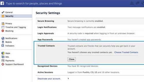 Hướng dẫn cách lấy lại mật khẩu Facebook nhờ bạn bè