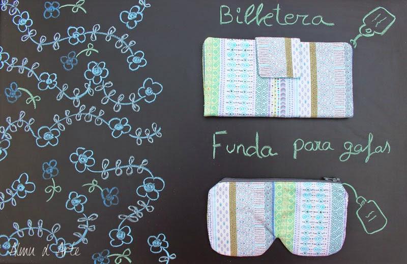 Billetera y funda de gafas hechas a mano