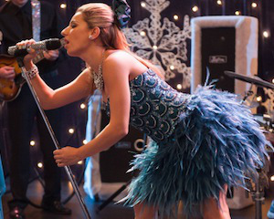 "Sugar's Short Feathered Jeweled Homecoming Dress by Jovani Fashions Glee Season 4, Episode 11: ""Sadie Hawkins"""