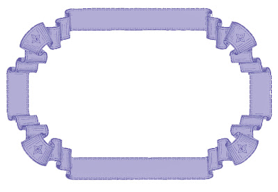 Stock Images French Ribbon Graphic Frames Purple
