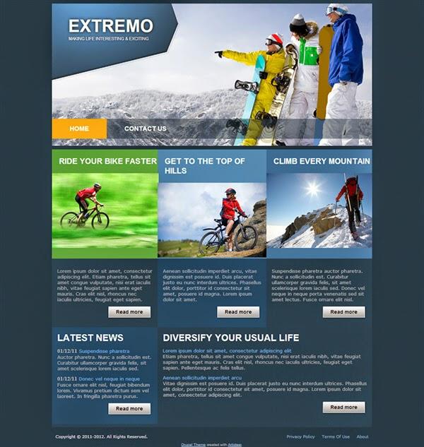 Extremo - Free Drupal Theme