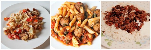 Slimming World meals - breakfast potato turkey rasher hash lunch meatballs tea chilli con carne