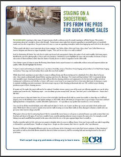 New Carpet Adds Value and Other Tips for a Quick Home Sale