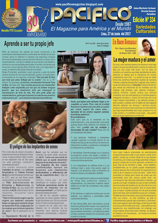 Revista Pacifico Nº 334 Variedades Culturales