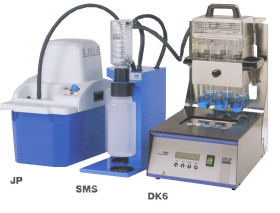 máy phá mẫu , máy phá mẫu kjeldahl , dk6 , velp - ý , thiết bị phân tích đạm ,