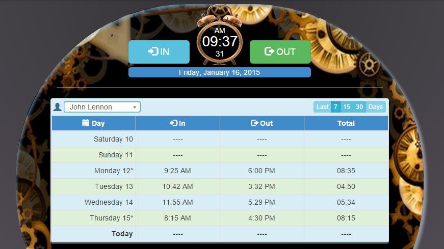 time and attendance porgram