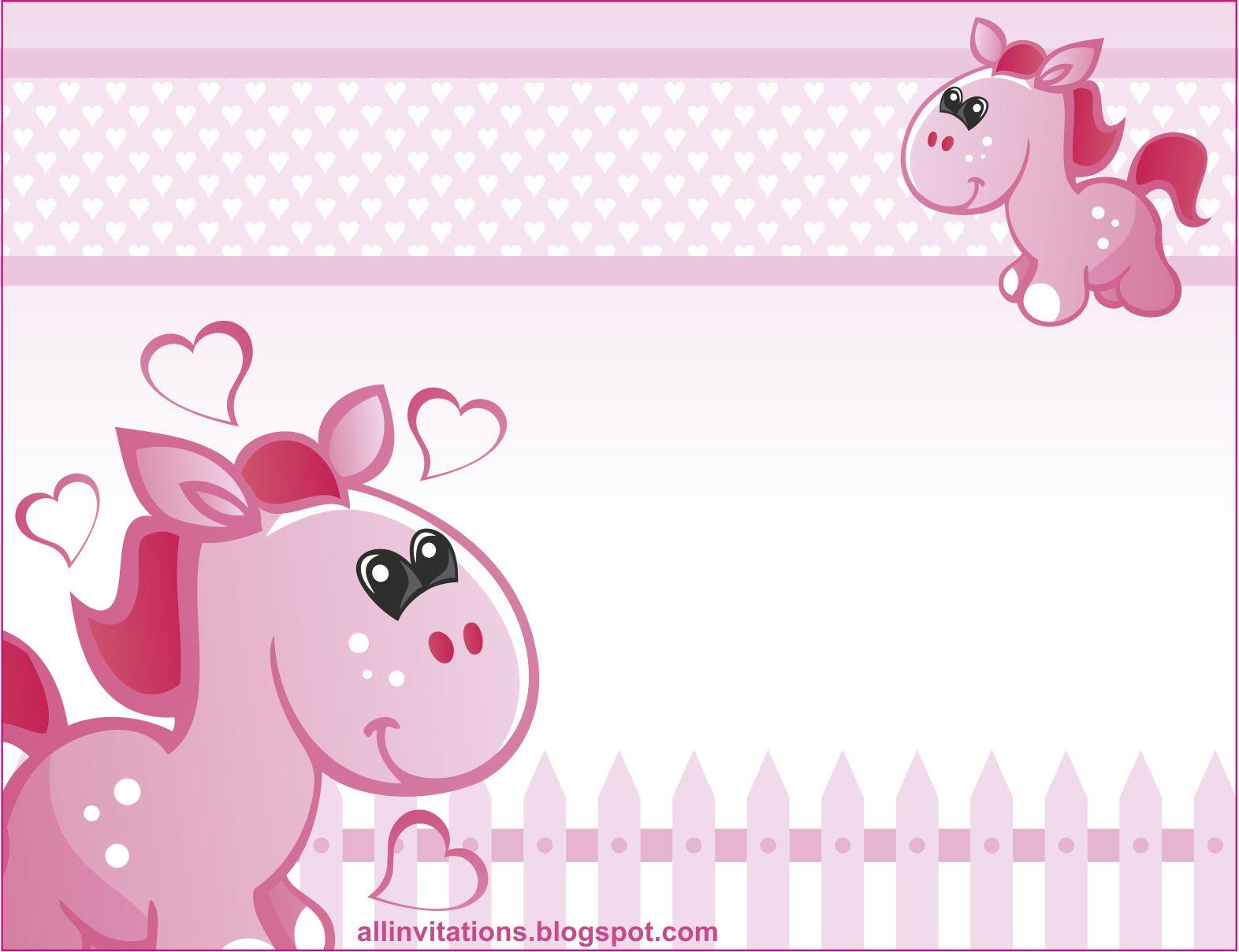Baby shower caballitos all invitations - Baby shower de nina ...