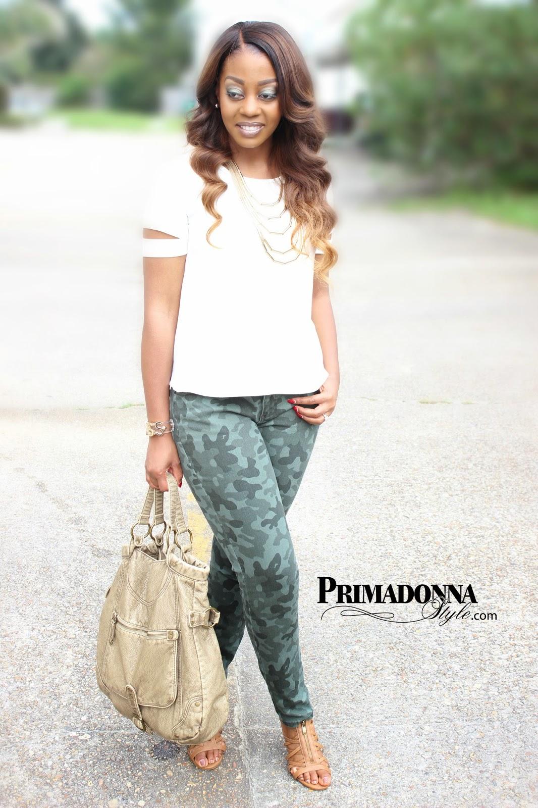 5354c4f663dee Primadonna Style: OOTD: Camo & Cream Crush
