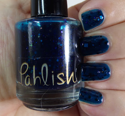 Teal blue glitter jelly