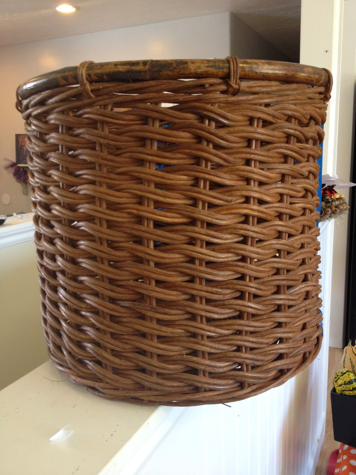 Monogram Initial Spray Painted Basket Housewives Of Riverton