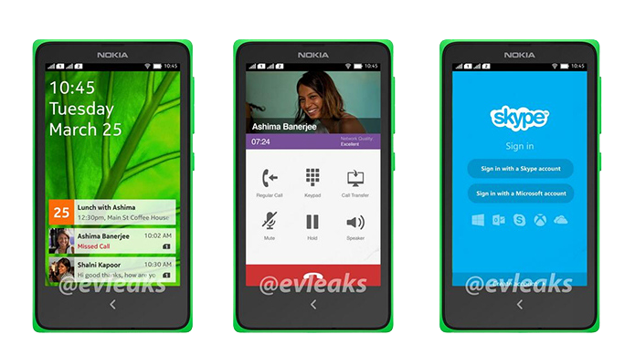 Imagens vazadas de um possivel celular nokia com Android